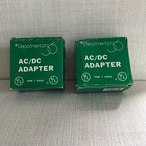 NWT Dept  56 AC/DC adaptors